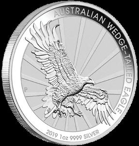 1 $ Dollar Wedge Tailed Eagle Keilschwanzadler Australien 2019 1 Oz Unze Silber