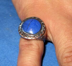 Ring-Circle-Gemstone-Afghan-Kuchi-Tribal-Alpaca-Silver-Size-10