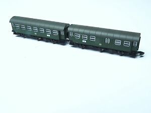 87060-11-Marklin-Z-scale-2-cars-close-coupled-Umbauwagen-set-2nd-class-baggage