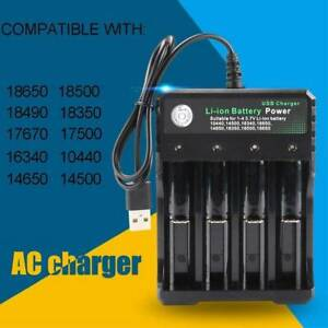 4-Slot-18650-Li-ion-Battery-Charger-USB-Fast-Charge-Dual-for-3-7V-10440-18350-UK