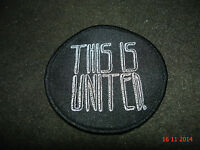 1 Authentic Round United Bmx Bikes Sew On Patch this Is United 22