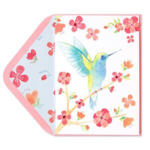 Papyrus greeting card any occasion blank blue hummingbird pink image is loading papyrus greeting card any occasion blank blue hummingbird m4hsunfo