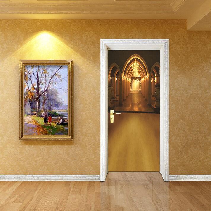 3D Gold Gang Tür Wandmalerei Wandaufkleber Aufkleber AJ WALLPAPER DE Kyra  | Hochwertige Materialien  | Geeignet für Farbe  | Großer Verkauf