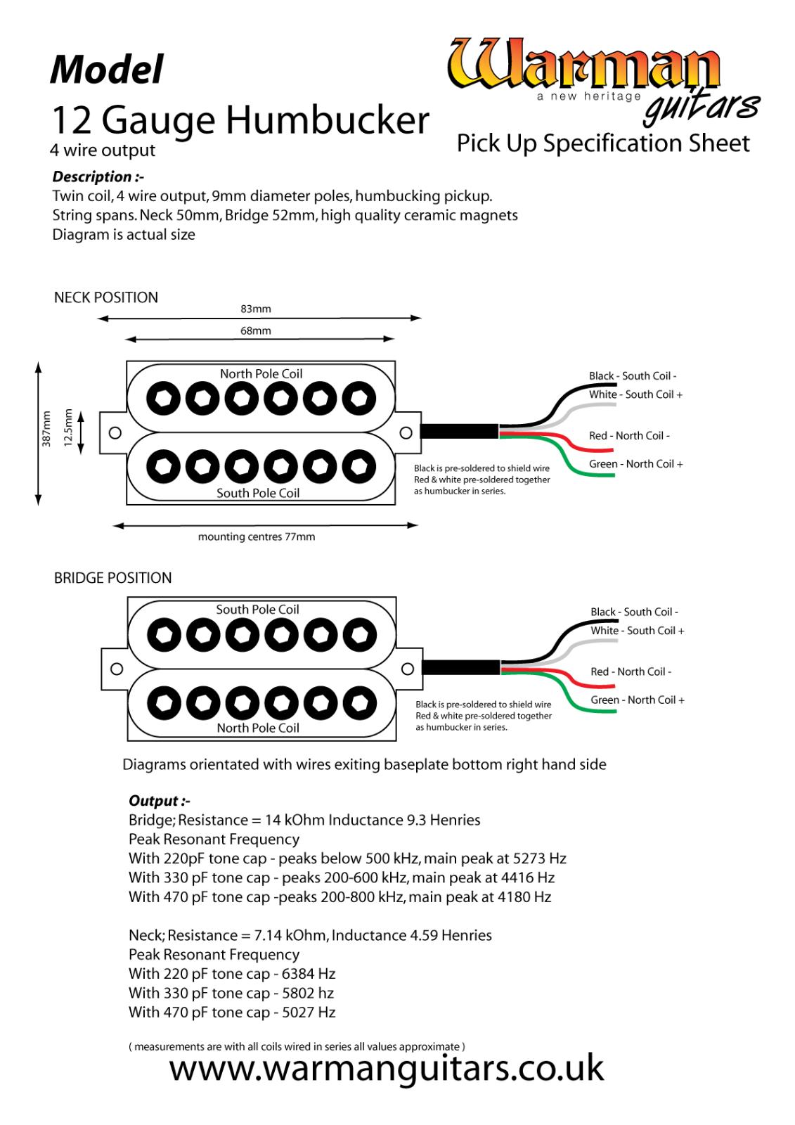Warman Humbucker Wiring Diagram | Wiring Liry on