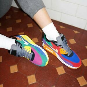 Details about Nike Air Max 90 QS Viotech Multi Color Suede Mens Womens Shoes Sneakers Pick 1