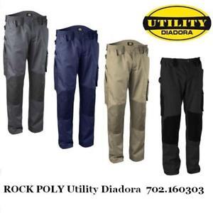 official images authentic get online Dettagli su Pantalone da lavoro con ginocchiere ROCK POLY Utility Diadora  702.160303