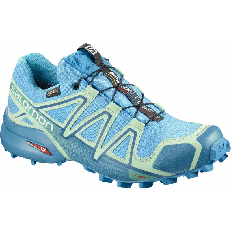 Womens Salomon Speedcross 4 Gtx Women's Trail Running Runners Casual shoes bluee