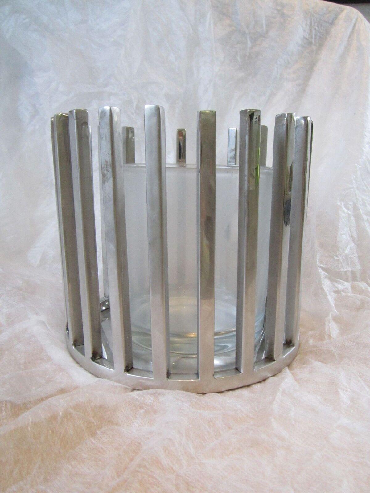 Kaheku Windlicht Ambiente Korbwindlicht Edelstahl mit Glaszylinder NEU  P