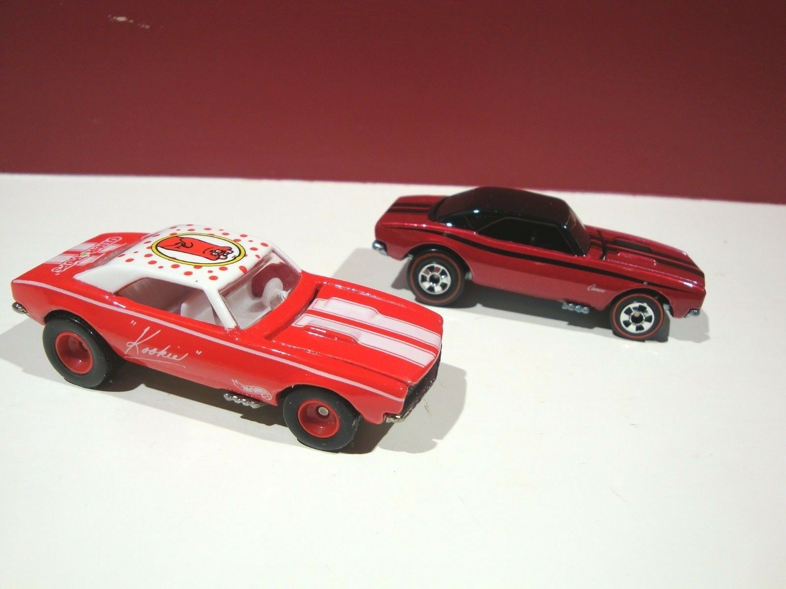 Hotwheels PAIR of 67 camaro OTTER POPS SINCE 68 You get BOTH redline real riders