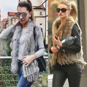 2018New-Sexy-Women-100-Real-Knitted-Rabbit-Fur-Vest-Gilet-Waistcoat-Coat-Jacket