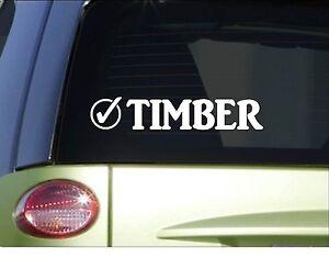 ID RATHER BE LOGGING Logger Chainsaw Lumberjack vinyl Decal Sticker D