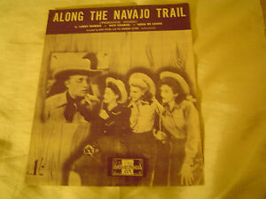 Sheet-Music-Along-the-Navajo-Trail-by-L-Markes-D-Charles-amp-E-D-Lange-1945