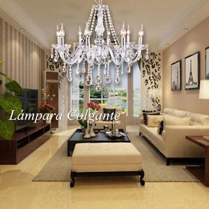 8 brazo ara a l mpara colgante k9 cristal moderna candelabro de techo luz de e14 ebay - Lampara arana moderna ...