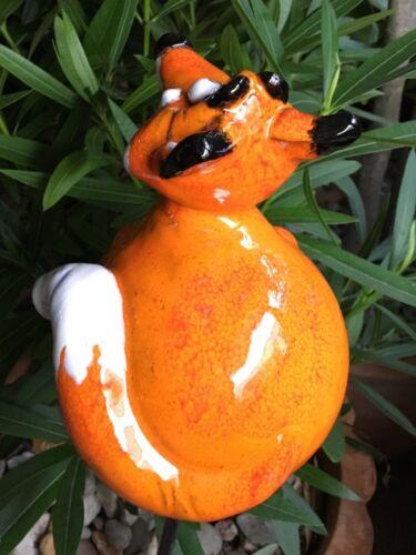 Céramique Renard Jardin balle à la main Jardin Connecteur Beetstecker Gartendeko DECO