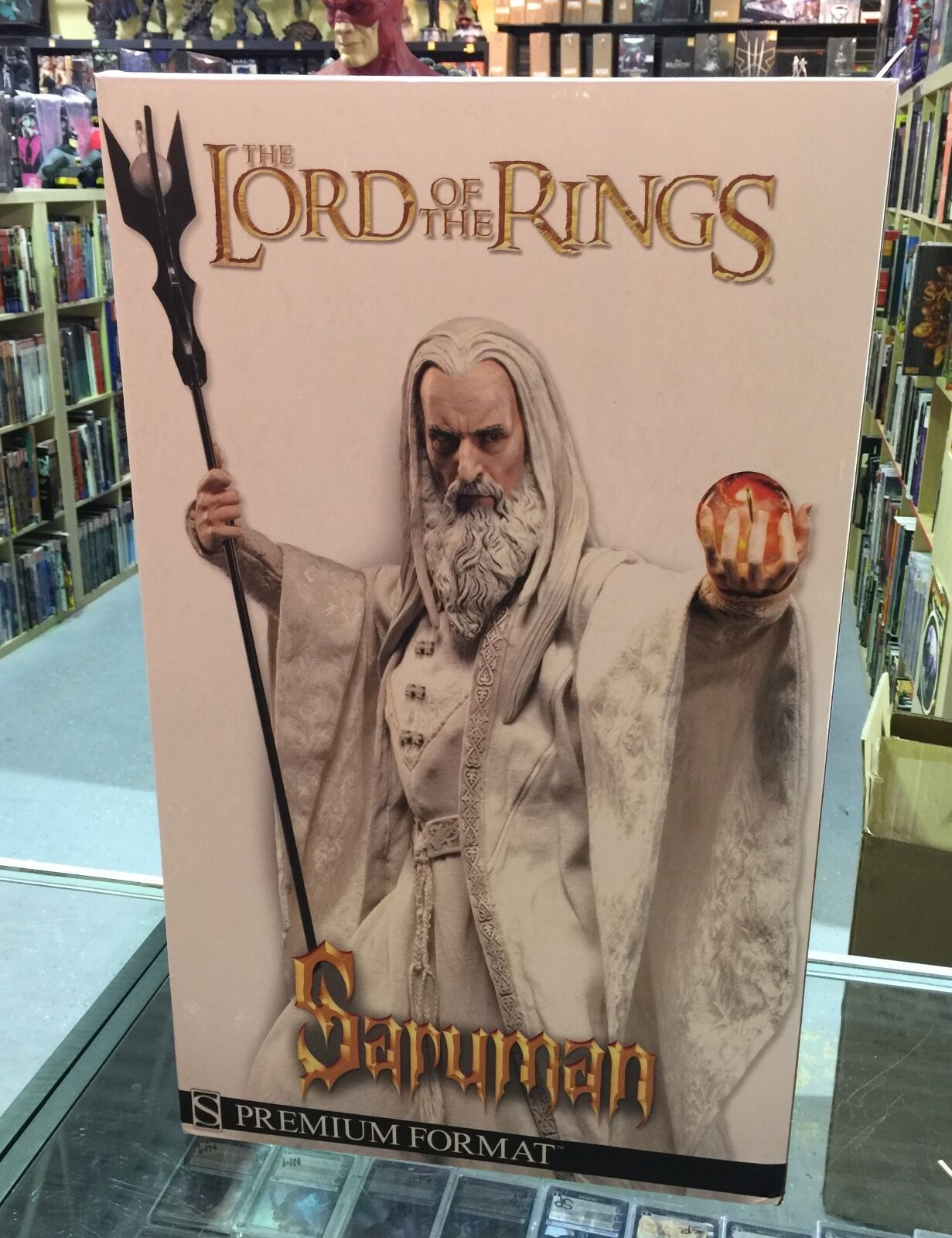 SIDESHOW Saruman premium format statue LOTR  1000 lord of the rings