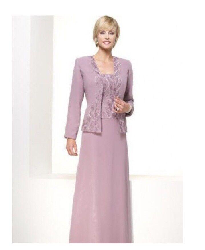 ATTN: Mothers of Brides! A-Line Princess Chiffon Satin Dress + Matching Jacket