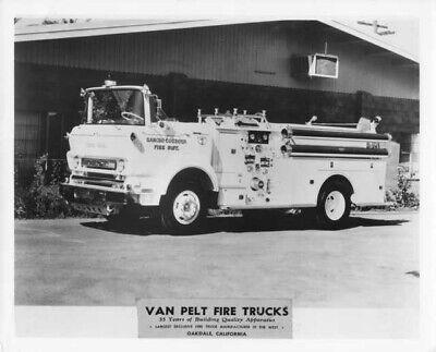1960 GMC Van Pelt Fire Truck Press Photo Rancho Cordova 0109