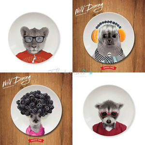 Image is loading Novelty-Wild-Dining-Dinner-Side-Plates-Funny-Animal-  sc 1 st  eBay & Novelty Wild Dining Dinner / Side Plates Funny Animal Party ...