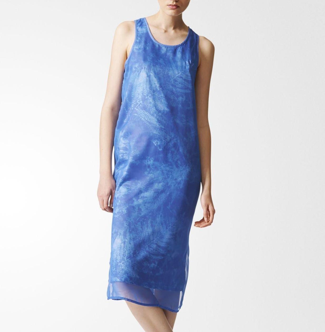 "Adidas ΠρωΟ""ΟŒΟ""υπα ΓυναικΡία φορέματα θαλάσσιων στοιχΡίων Ο†ΟŒΟΞ΅ΞΌΞ± Tank Blue Blue Satin CF9969"