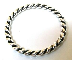 handmade 925 sterling silver band 2 mm twisted rope thumb