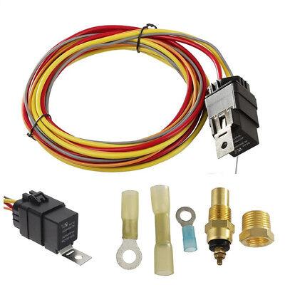12v Electric Fan Wiring Harness Kit W Relay Sending Unit Circuit Breaker 12v Ebay