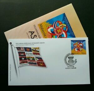 SJ-Malaysia-Joint-Issue-Of-ASEAN-Community-2015-Flag-stamp-FDC
