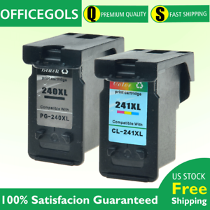 2PK PG-240XL CL-241XL Black /& Color Ink for Canon PIXMA MG2120 MX472 MX372 MX512