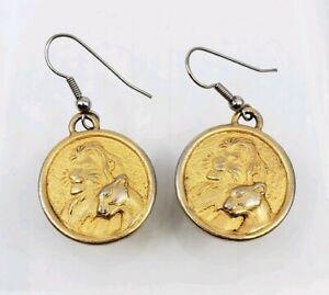 Vintage-Walt-Disney-The-Lion-King-Simba-amp-Nala-Earrings
