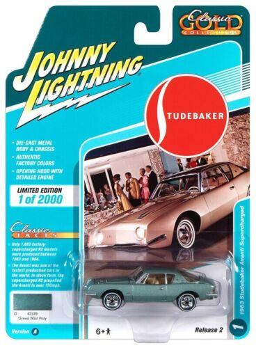 Johnny Lightning 1:64 1963 Studebaker Avanti Sea Spray Green Die-Cast JLCG022