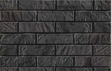 BRICK SLIPS CLADDING WALL TILES FLEXIBLE - 5 Sqm ( m2 ) - GRAPHITE BRICK