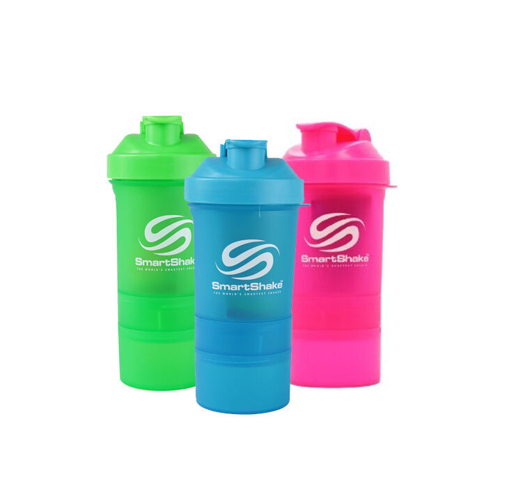 + + smartshake shaker NEON série (500ml) (smart shaker shaker shaker 3 chambre + pilulier) + + c5949c