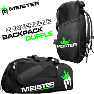 bae745bcd Image is loading MEISTER-CONVERTIBLE-BACKPACK-GYM-BAG-Black-Sports-MMA-