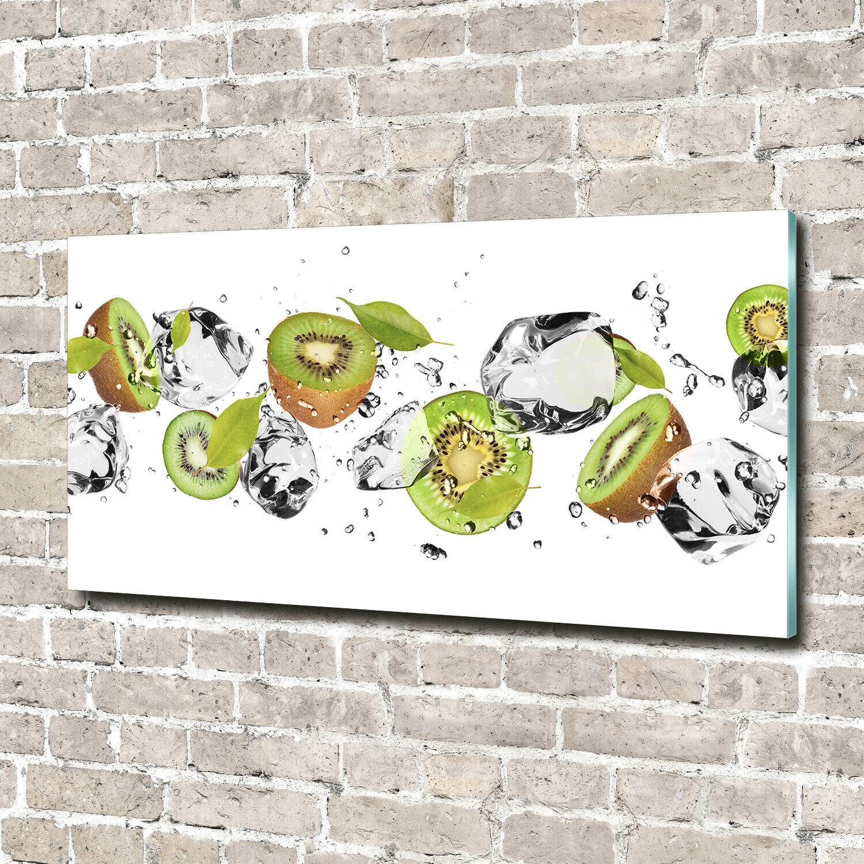 Acrylglas-Bild Wandbilder Druck 140x70 Deko Essen & Getränke Kiwi Wasser