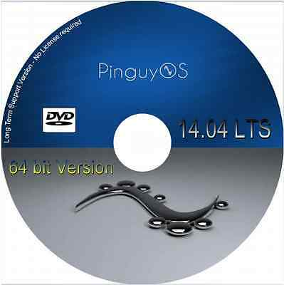 Pinguy OS 14.04.4.1 LTS based Linux much more 64 bit Live Desktop DVD PinguyOS