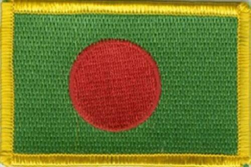 Ricamate Bangladesh bandiera bandiera aufbügler Patch 8 x 5 cm