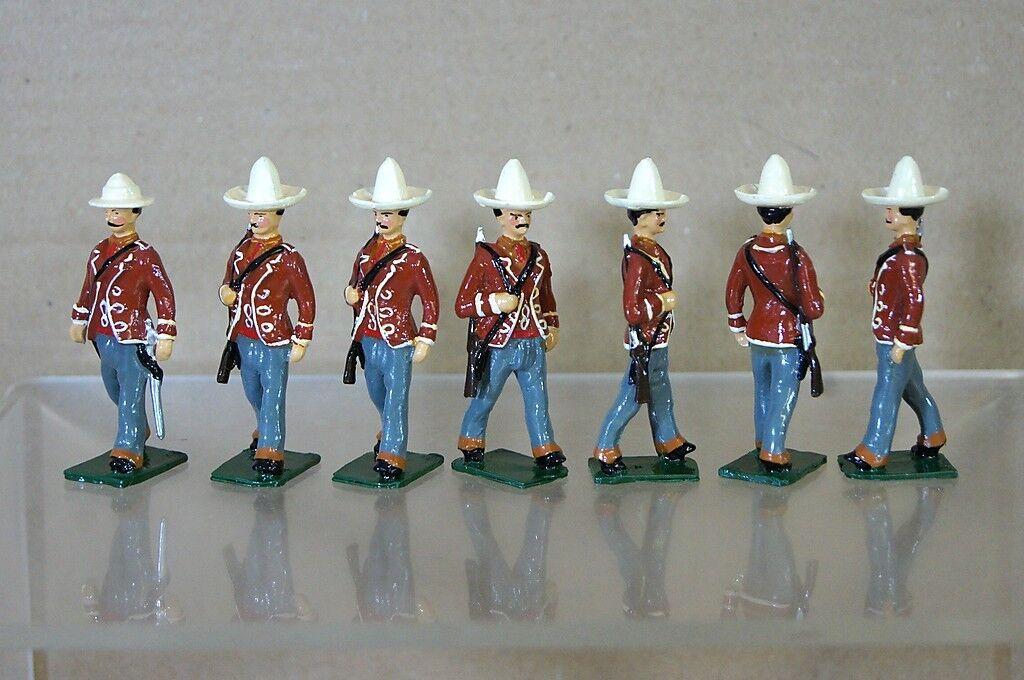 Réplica Modelos Patricio Campbell Britains Mexicano Infantería Marchando x7 Mv
