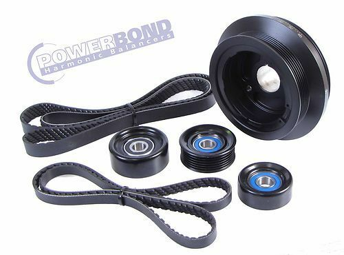 POWERBOND 25% Underdrive Balancer Belt & Pulley Kit For Commodore VE L98 LS2 6L