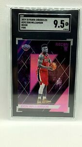 2019 Panini Chronicles Recon PINK Zion Williamson ROOKIE SGC 9.5 MINT RC #292