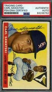 Carl-Sawatski-PSA-DNA-Coa-Autograph-1955-Topps-Hand-Signed