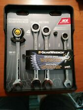 New Ace Gearwrench 4pc Ratcheting Metric Combination Wrench Set 10121314mm