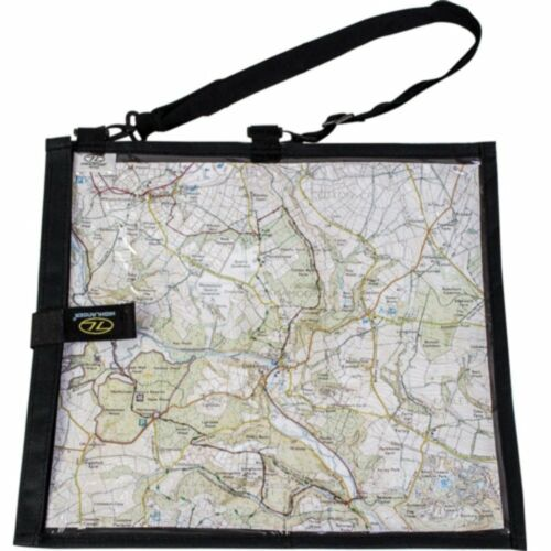 Schwarz Wanderer Wasserfest Kartentasche für Militär Wandern Beuteltasche Lesen