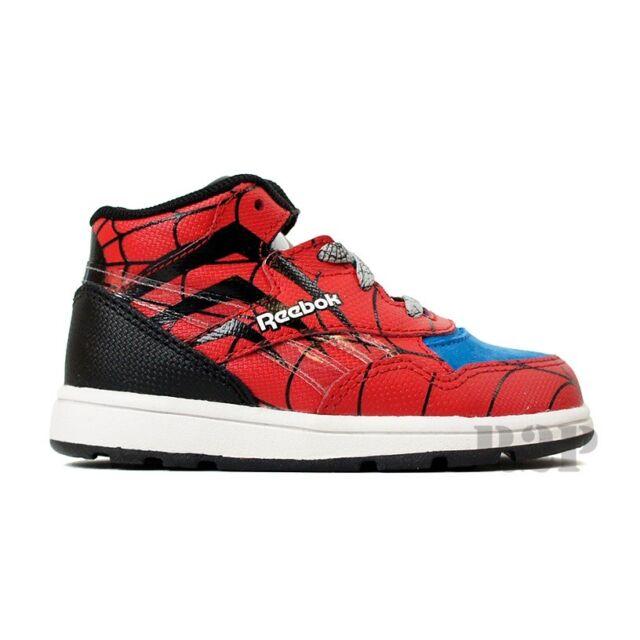 Reebok Reverse Jam Mid X Marvel Spider Man (Red) Toddler Shoes J95539 79476f7ad