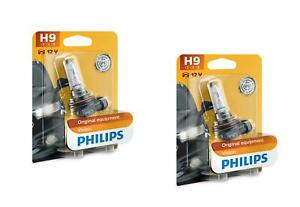 2x-H9-12V-65W-PGJ19-5-Vision-Original-equipment-Philips