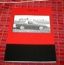 FIAT 850 PROVA SU STRADA RISTAMPA LIBRO Inc Cutaway, BERTONE, Guida tecnica, il servizio