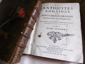 Halicarnasse Denys Les Antiquites Romaines 1723 Edition