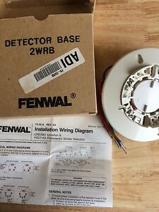 Fenwal 2 Wire Smoke Detector Base W Relay Ebay