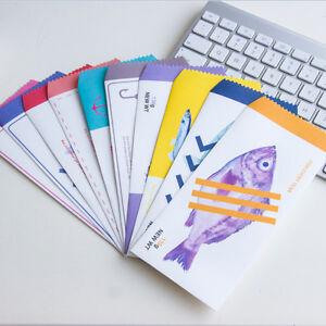 10pcs creative ocean blue canned fish Vintage Paper Envelopes School Materials