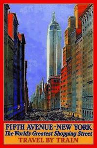 Fifth-Avenue-New-York-Blechschild-Schild-gewoelbt-Metal-Tin-Sign-20-x-30-cm
