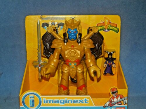 POWER Rangers Imaginext Power Rangers GOLDAR e Rita Repulsa grande set di azione