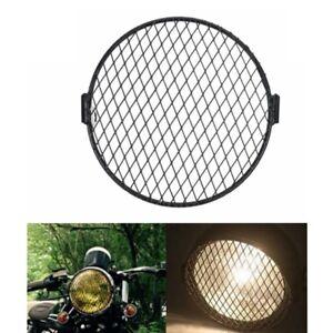 """7"""" Motorrad Scheinwerfer Grill Gitter Diamant Cover für Retro Cafe Racer Lampe"""
